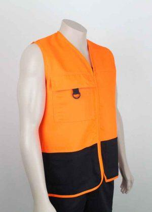 Hi Vis Vest With Pockets Orange