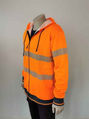 Hi Vis Work Hoodie Orange