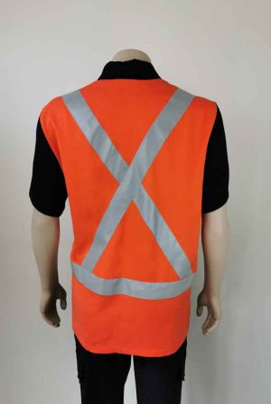 Hi Vis Work Wear Shirt Back with X