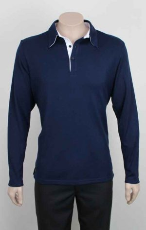 Long Sleeve Rugby Shirt Navy