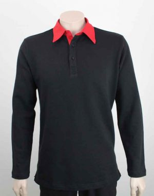 Long Sleeve Rugby Shirt Black