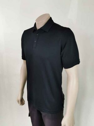 Lyocell Men's Polo Shirt Black