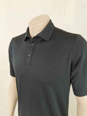 Lyocell Men's Polo Shirt Close Up