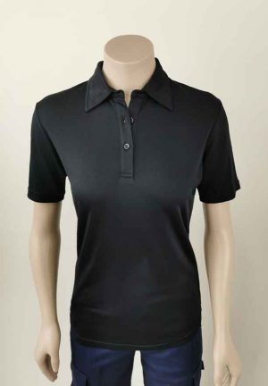 Lyocell Woman's Polo Black