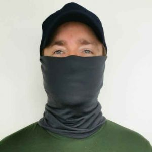 Merino Wool Neck Gaiter in Charcoal
