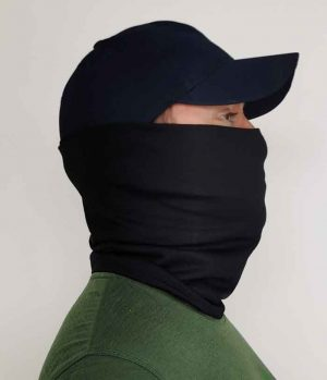 Merino Wool Neck Gaiter Black