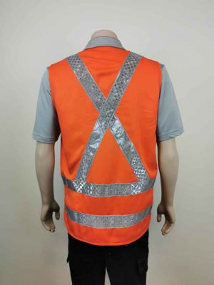 TTMC Hi Vis Vest With X