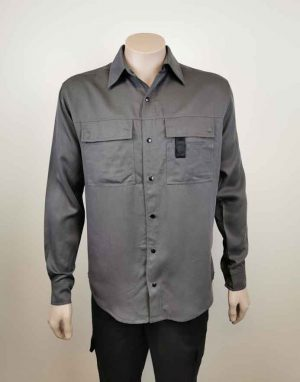 Long Sleeve Work Shirt Charcoal Grey
