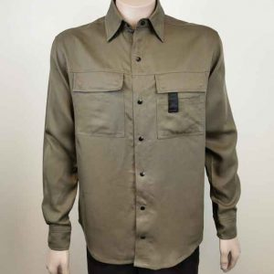 Long Sleeve Work Shirt Olive Green