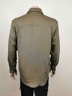 Long Sleeve Work Shirt Back Olive Green