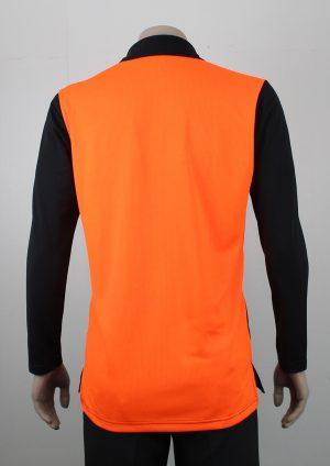 Hi Vis Polo Long Sleeve Orange Back
