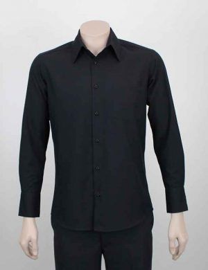Summer Business Casual Shirt Charcoal Black