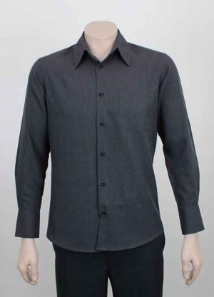 Summer Business Casual Shirt Charcoal Grey Marl