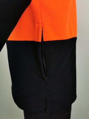 Hi Vis Fleece Pullover Zip Pockets