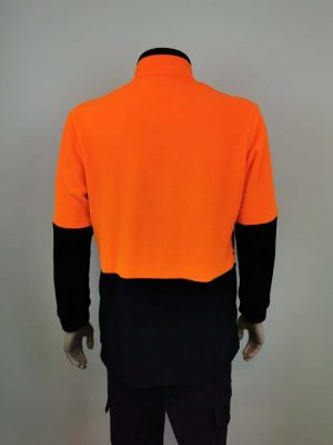 Hi Vis Fleece Pullover Orange Black