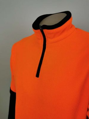 Hi Vis Fleece Pullover 1/4 Zip