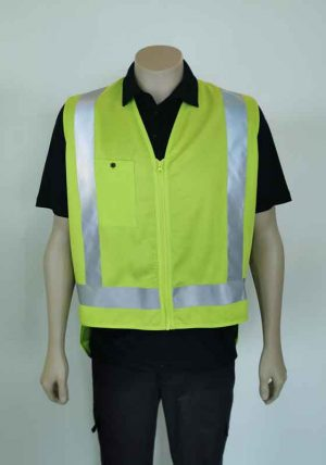 Yellow Hi Vis Vest with Pocket