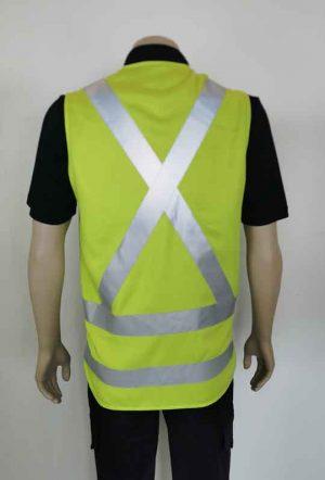 Yellow Hi Vis Vest with X