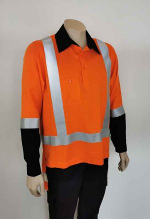 TTMC Long Sleeve Closed Front Orange Shirt