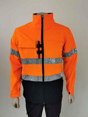 Hi Vis Softshell Jacket Orange Black