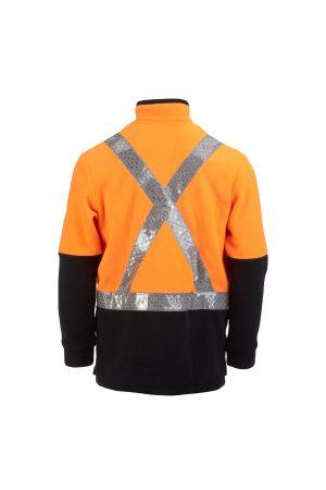 Hi Vis Fleece Pullover Taped Orange Black X