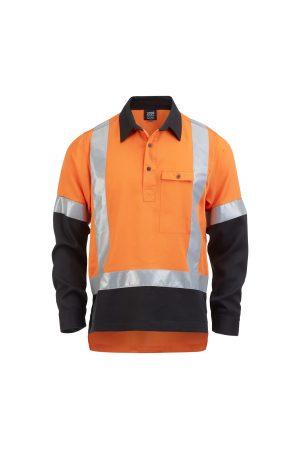 Hi Vis Closed Front Shirt Orange