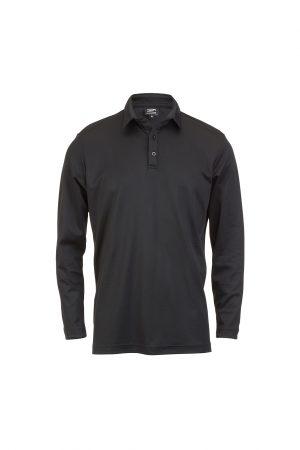 Men's Long Sleeve Polo Black