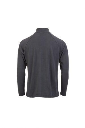 Merino Sweatshirt Charcoal Back
