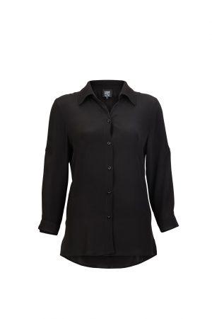 Business Casual Woman's Shirt Black