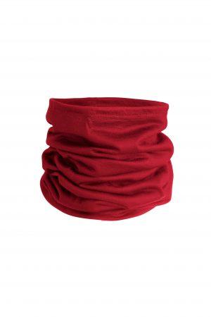 Merino Wool Neck Gaiter Poppy Red