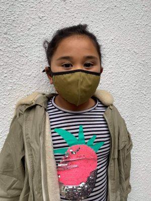 Reusable Kids Face Mask Olive