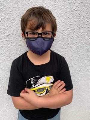 Reusable Kids Face Mask Navy